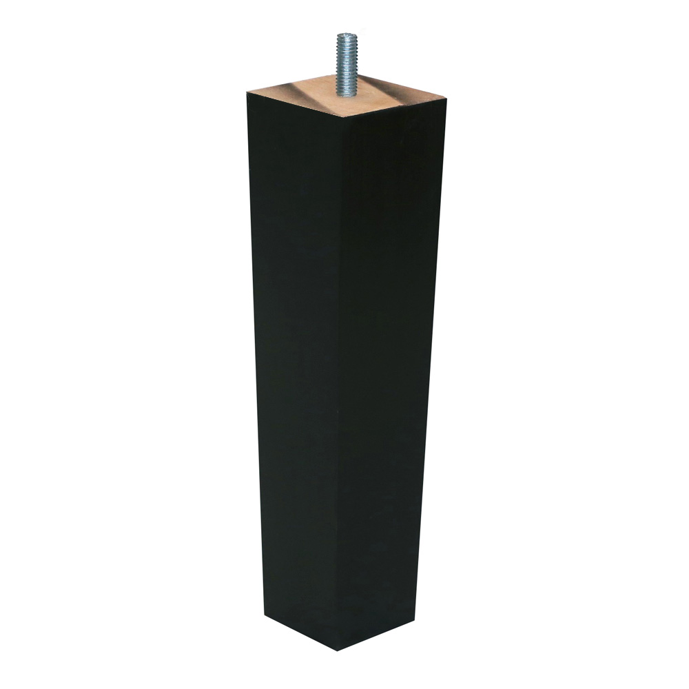 "Britwood Wooden Trapeze Furniture Leg 8"" = 20 cm Black"