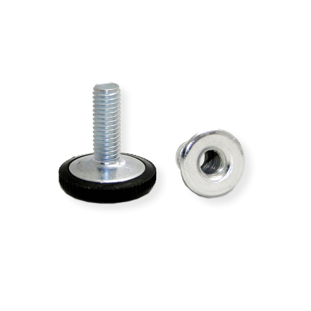 Adjustable Foot M10 x 25 mm with insert nut M10 - Round base