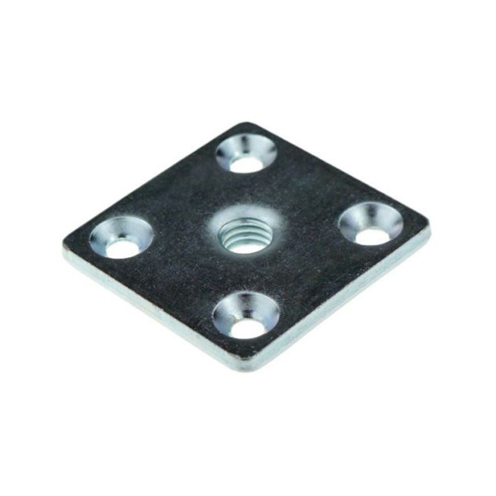Level Square Mounting Plate M8, 37 x 37 x 3 mm