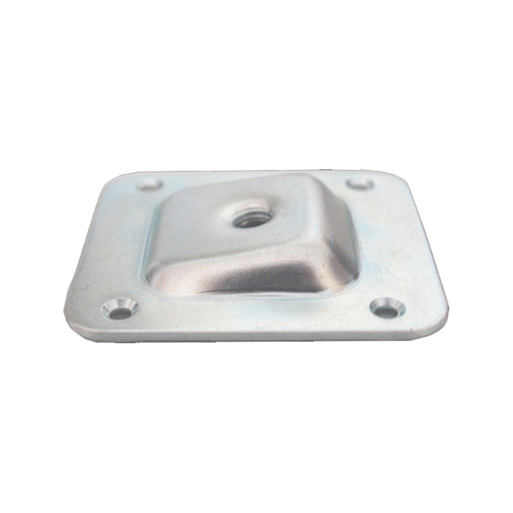 Angled Square Mounting Plate M8 - 66 x 58 x 1.8 mm