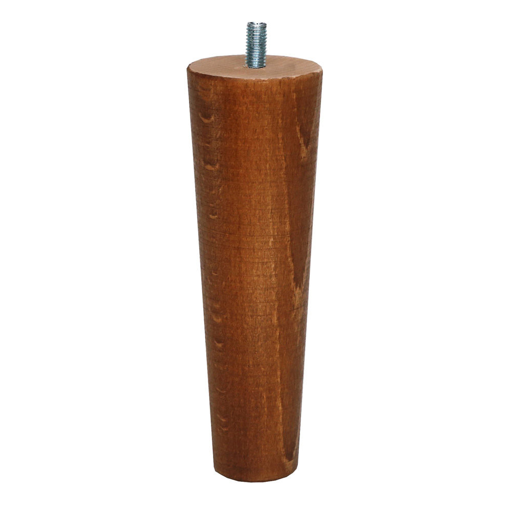 """Britwood Furniture Legs Round Tapered Cone 6.7"""" = 17 cm Sand Oak"""