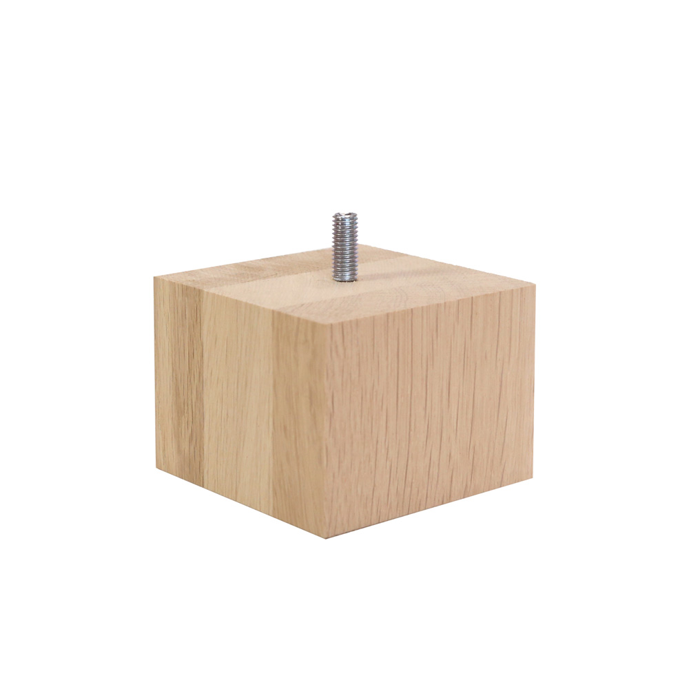 Britwood Furniture Square Oak Leg - 8 x 8 x 6 cm Raw